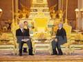 チョン書記長、カンボジアのシハモニ国王と会談
