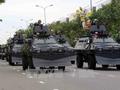 APEC首脳会議の安全保障の出陣式と演習のリハーサル