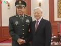 越共中央总书记阮富仲会见中共中央军委副主席范长龙