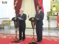 Entretien entre Nguyen Phu Trong et Joko Widodo