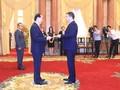 Le président Tran Dai Quang reçoit les ambassadeurs étrangers
