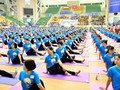 Activité en l'honneur de la Journée internationale du yoga