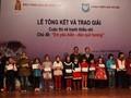 """Acara penyampaian hadiah Kontes melukis di kalangan anak """"Aku mencintai laut dan pulau kampung halaman"""""""