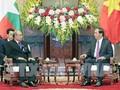 Presiden Vietnam, Tran Dai Quang menerima Ketua Parlemen Myanmar, Mahn Win Khaing Than