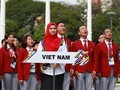 Upacara bendera kontingen-kontingen olahraga peserta Sea Games 29