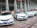 Pasukan polisi lalu lintas melakukan apel pemberangkatan  untuk menjamin  ketertiban  lalu lintas  untuk menjaga Pekan Tingkat Tinggi APEC-2017