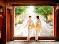 """Чистая красота вьетнамских девушек в традиционных платьях """"аозай"""""""