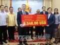 ชมรมชาวเวียดนามร่วมบริจาคเพื่อช่วยเหลือประชาชนลาวที่ประสบภัยธรรมชาติ