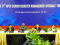 APEC senior officials recommend disaster response measures