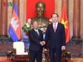 陈大光会见柬埔寨国会主席韩桑林