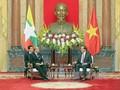 ประธานประเทศเวียดนามให้การต้อนรับประธานรัฐสภาเมียนมาร์