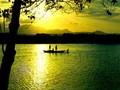 Красота горы Ан и реки Ча в провинции Куангнгай