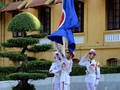 พิธีเชิญธงอาเซียนขึ้นสู่ยอดเสาในโอกาสฉลองครบรอบ50ปีการจัดตั้งอาเซียน