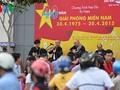 บรรยากาศในวันฉลอง40ปีการรวมประเทศเป็นเอกภาพที่กรุงฮานอยและนครโฮจิมินห์