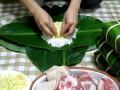 Приготовление пирогов «Чынг» в традиционный новогодний праздник Тэт