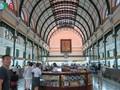 Die Post in Stadtzentrum- die Einrichtung mit besonderer Architektur in Ho Chi Minh Stadt