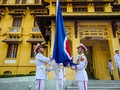 Flag raising ceremony marks ASEAN's 50th anniversary