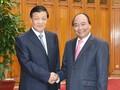Nguyen Xuan Phuc reçoit Liu Yunshan