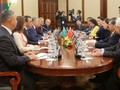 Ketua MN Nguyen Thi Kim Ngan melakukan pembicaraan dengan Ketua Majelis Rendah Republik Kazakhstan