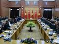 越南国防部部长吴春历与中共中央军委副主席范长龙举行会谈
