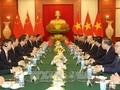 KPV-Generalsekretär Nguyen Phu Trong führt Gespräch mit dem chinesischen Generalsekretär Xi Jinping
