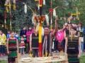 莫农族村庄的村门节