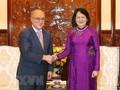 Vize-Staatspräsidentin Dang Thi Ngoc Thinh empfängt den deutschen WUS-Vorsitzenden
