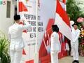 Acara pengibaran bendera memperingati HUT ke-74 Hari Kemerdekaan Republik Indonesia
