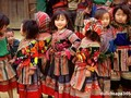 Colorful costumes of ethnic women in Son La