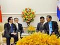Hoang Binh Quan, Utusan Khusus dari Sekjen KS PKV menyampaikan hasil Kongres Nasional ke-12 PKV kepada para pemimpin Kamboja