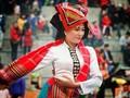 ソンラ省の色とりどりの少数民族衣装