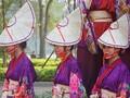 ベトナムのヨサコイ 色とりどりの衣装で舞う