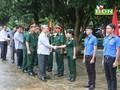 Thường trực Ban Bí thư Trần Quốc Vượng làm việc tại đoàn kinh tế quốc phòng Quảng Sơn