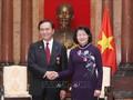 ベトナム国家副主席、神奈川県知事と会見