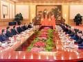 阮氏金银会见中共中央总书记、国家主席习近平