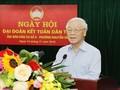 Nguyên Phu Trong à la fête de grande union nationale à Hanoï