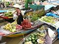 Einzigartige Kultur auf dem schwimmenden Markt im Südwesten Vietnams