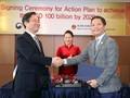 Нгуен Тхи Ким Нган присутствовала на церемонии подписания меморандума об увеличении объёма товарооборота между СРВ и РК