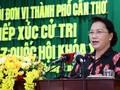 Председатель Нацсобрания Вьетнама встретилась с избирателями