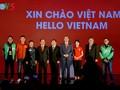 Presiden Indonesia, Joko Widodo menghadiri acara peresmian Go-Viet di Kota Hanoi
