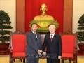 Sekjen, Presiden Nguyen Phu Trong menerima Delegasi tingkat tinggi Keamanan Publik Laos