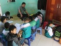 Disabled teacher dedicated to poor children