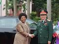 Bộ trưởng Bộ Quốc phòng đón đoàn cấp cao Bộ Quốc phòng Nam Phi