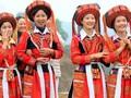 Particularidad cultural de la etnia Pa Then destacada en traje femenino