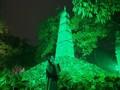 """""""Nhuộm xanh"""" Tháp Bút (Hà Nội) với thông điệp bảo vệ màu xanh Trái đất"""