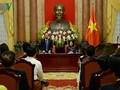 Quyền Chủ tịch nước Đặng Thị Ngọc Thịnh tiếp đoàn doanh nghiệp nhỏ và vừa Việt Nam  Nhân kỷ niệm Ngày doanh nhân Việt Nam (13/10), chiều 12/10, tại Ph