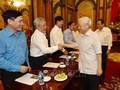 Tổng Bí thư, Chủ tịch nước Nguyễn Phú Trọng gặp mặt thân mật đại diện Đoàn Chủ tịch Ủy ban Trung ương Mặt trận Tổ quốc Việt Nam