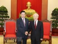 Party chief praises Vietnam-Lao ties