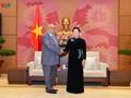 Líder parlamentaria vietnamita recibe a una delegación cubana