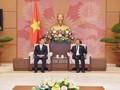 รองประธานสภาแห่งชาติ โด๋บ๊าติ ให้การต้อนรับรองประธานสภานิติบัญญัติแห่งชาติ คนที่หนึ่งของไทย
